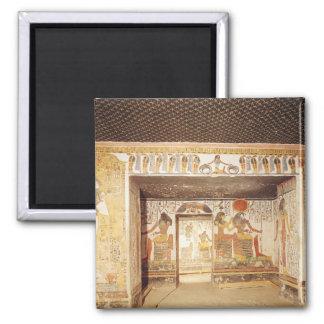 Dos cuartos de la tumba de Nefertari Imán Cuadrado