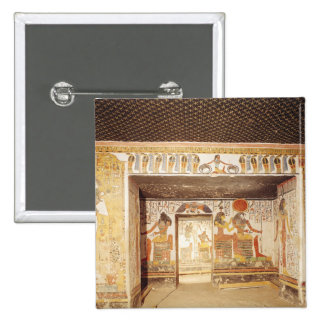 Dos cuartos de la tumba de Nefertari Pin Cuadrada 5 Cm