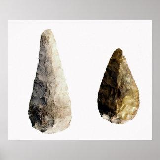 Dos cuchillas, del Santo-Acheul Póster