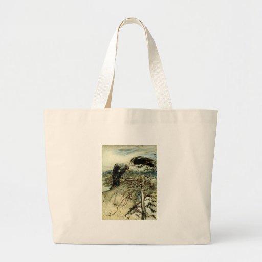 Dos cuervos bolsa de mano