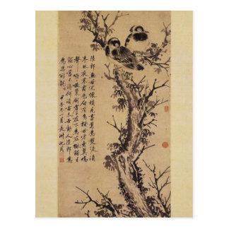 Dos cuervos en un árbol de Shen Zhou Postales