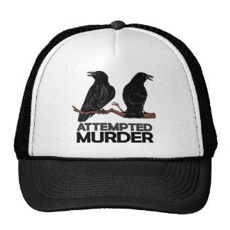 Dos cuervos = intentos de asesinato gorras de camionero
