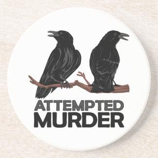 Dos cuervos = intentos de asesinato posavaso para bebida