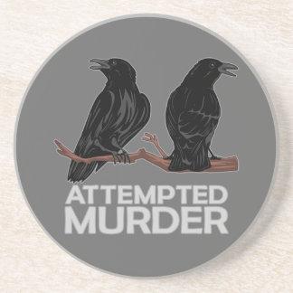 Dos cuervos = intentos de asesinato posavasos diseño