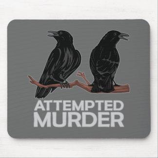 Dos cuervos = intentos de asesinato alfombrilla de raton