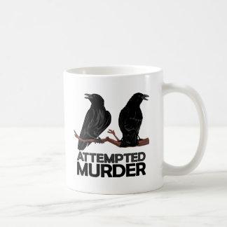 Dos cuervos = intentos de asesinato taza clásica