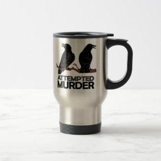 Dos cuervos = intentos de asesinato taza térmica