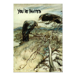 Dos cuervos invitaciones personalizada