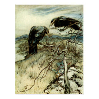 Dos cuervos tarjeta postal