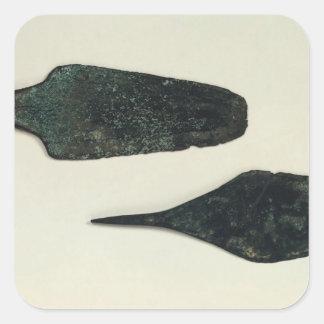 Dos dagas, 2000-1800 A.C. Pegatina Cuadrada