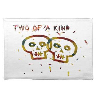 Dos de cráneos buenos manteles individuales