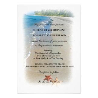 Dos de nosotros boda de las estrellas de mar del a invitacion personalizada
