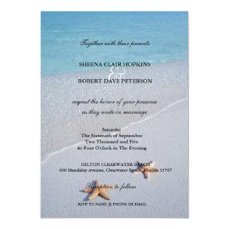 Dos de nosotros boda de las estrellas de mar del invitación 12,7 x 17,8 cm