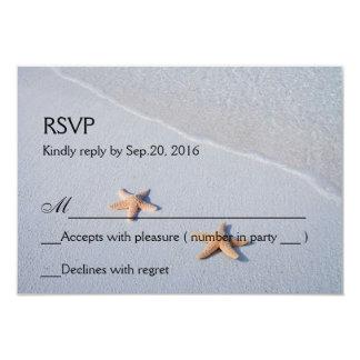 """Dos de nosotros tarjeta de RSVP de la respuesta de Invitación 3.5"""" X 5"""""""
