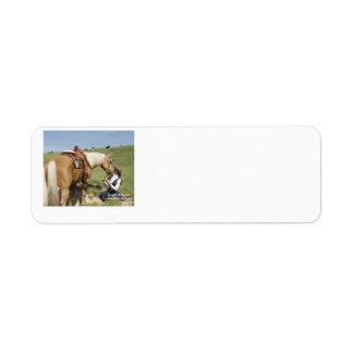 Dos de una clase: Palomino y vaquera Etiquetas De Remite