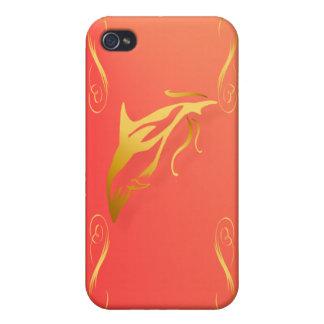 Dos delfínes del oro iPhone 4 protector