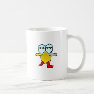 Dos dirigieron la tortuga taza de café