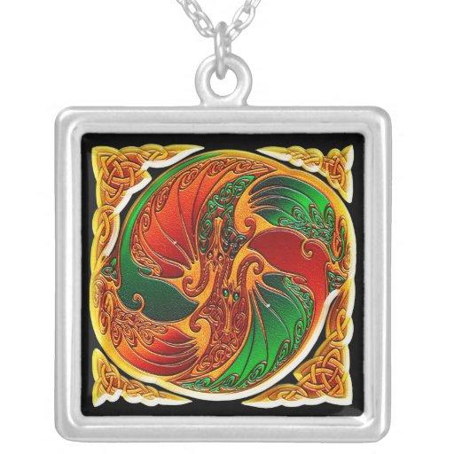 Dos dragones chinos - colgante