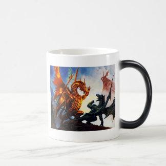 Dos dragones en una taza