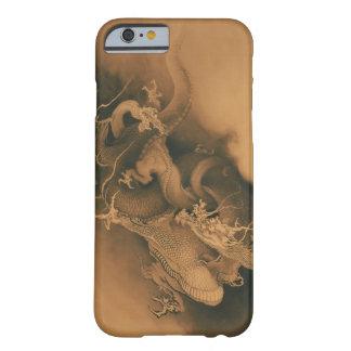 Dos dragones en vintage de las nubes funda de iPhone 6 barely there