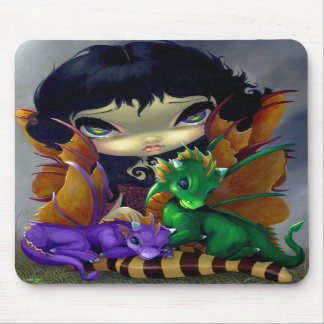 """Dos Dragonlings lindo"" Mousepad"