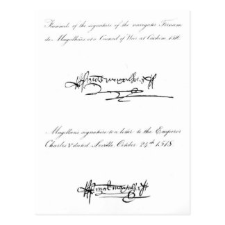 Dos ejemplos de la firma tarjeta postal