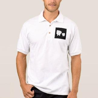 Dos elefantes blancos lindos en negro. Historieta Camisetas Polos