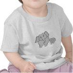 Dos elefantes lindos. Historieta Camiseta