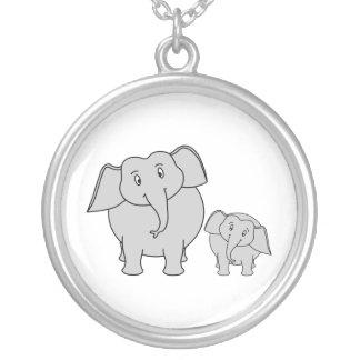 Dos elefantes lindos. Historieta Colgante Redondo
