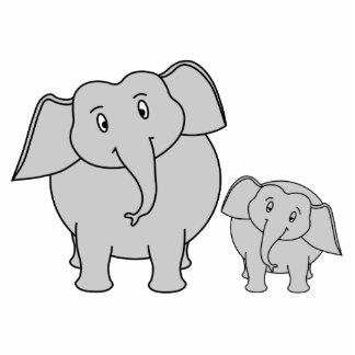Dos elefantes lindos. Historieta Fotoescultura Vertical