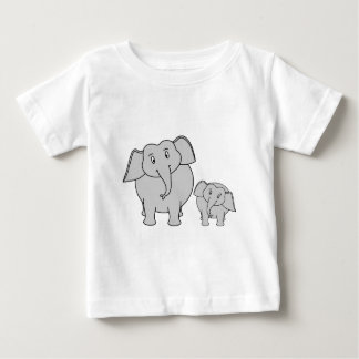 Dos elefantes lindos. Historieta T Shirt