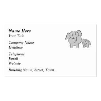Dos elefantes lindos. Historieta Tarjetas De Visita