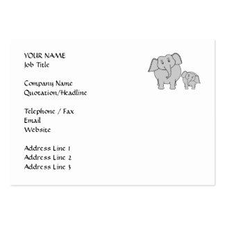 Dos elefantes lindos. Historieta Tarjetas De Visita Grandes