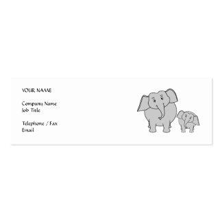 Dos elefantes lindos. Historieta Tarjetas De Visita Mini