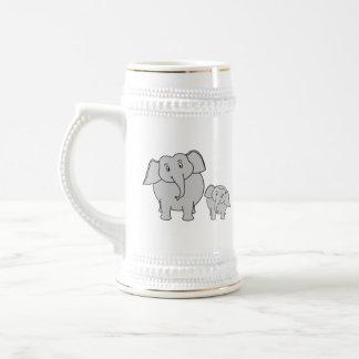 Dos elefantes lindos. Historieta Taza