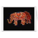 """""""Dos elefantes persas """" Tarjeta"""