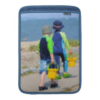 Dos en la manga de aire de MacBook de la playa Funda MacBook