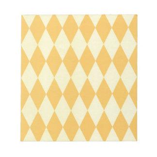 Dos entonaron a Harlequins amarillos Blocs De Notas