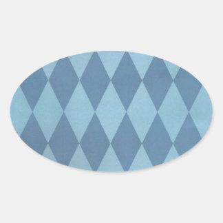 Dos entonaron a Harlequins azules Pegatina Ovalada