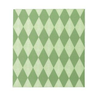 Dos entonaron a Harlequins verdes Blocs De Notas