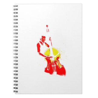 Dos entonaron amarillo rojo del esquema vertical d libros de apuntes con espiral