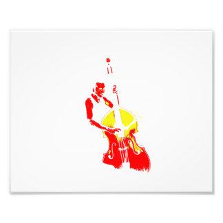 Dos entonaron amarillo rojo del esquema vertical d arte fotográfico