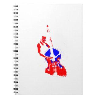 Dos entonaron el azul rojo del esquema vertical de cuadernos