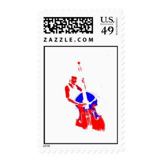 Dos entonaron el azul rojo del esquema vertical sello
