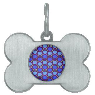 Dos entonaron ojeteador azules de la burbuja placas mascota