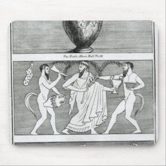 Dos escenas de un florero de Etruscan Alfombrillas De Ratón