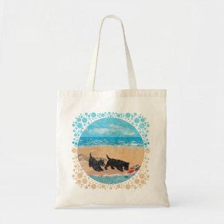 Dos escoceses en la playa bolsas de mano