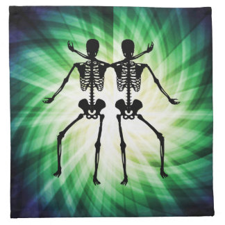 Dos esqueletos servilletas de papel