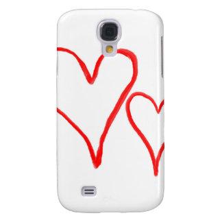Dos esquemas dibujados rojos del corazón, diversos