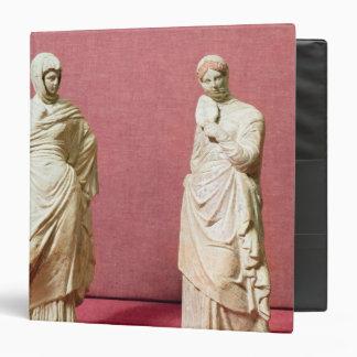 "Dos estatuas de mujeres derechas de Tanagra Carpeta 1 1/2"""